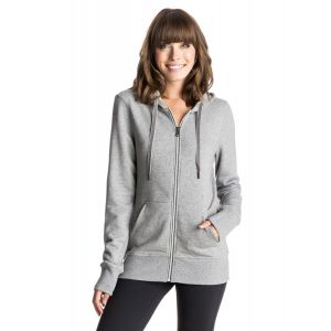 BLUZA ROXY THROW DOWN ZIP-UP HOODIE 2016 SZARY