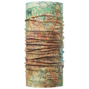 CHUSTA BUFF HIGH UV PROTECTION CAMINO DE SANTIAGO GEO 2016 BRĄZOWY|ZIELONY