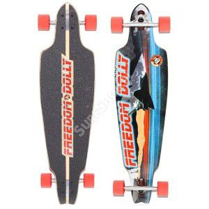 "LONGBOARD FREEDOM DOLLY SHUTTLE SPACE 2013 38,5"" WIELOKOLOROWY"