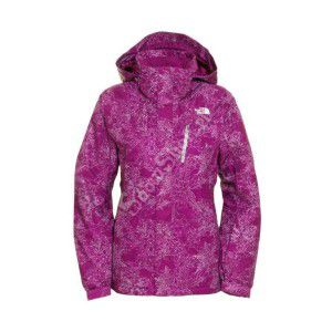 KURTKA THE NORTH FACE SNOW COUGAR PRINT JACKET FIOLETOWY