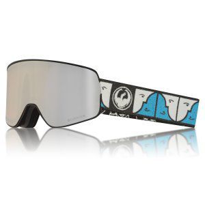 GOGLE DRAGON NFX2 2018 FOREST BAILEY SIGNATURE SILVER ION