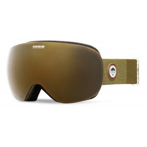 GOGLE QUIKSILVER QS-R 2018 GRAPE LEAF ON STRIPES|AMBER ROSE ML GOLD