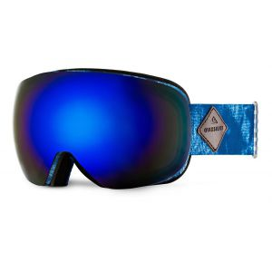 GOGLE QUIKSILVER QS-R 2017 HIGHDYE BLUE|AMBER ROSE ML BLUE