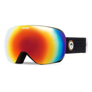 GOGLE QUIKSILVER QS-R 2018 BLACK|AMBER ROSE ML RAINBOW