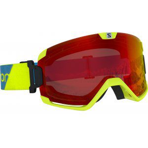 GOGLE SALOMON COSMIC 2019 NEON YELLOW|MID RED