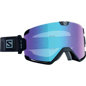 GOGLE SALOMON COSMIC PHOTO 2019 BLACK|ALL WEATHER BLUE