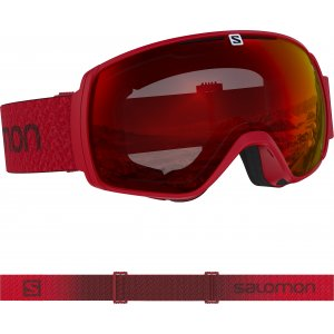 GOGLE SALOMON FOUR SEVEN PHOTO 2018 WHITE|RED w SnowShop.pl