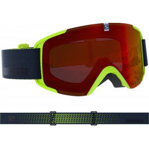 GOGLE SALOMON XVIEW 2019 ACID LIME|MID RED