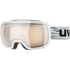 GOGLE UVEX COMPACT VLM 2019 WHITE|LITEMIRROR SILVER VARIOMATIC S1-3