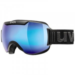 GOGLE UVEX  DOWNHILL 2000 FM 2019 BLACK MAT|MIRROR  BLUE CLEAR S2