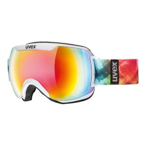 GOGLE UVEX  DOWNHILL 2000 FM 2017 WHITE|MIRROR RAINBOW S3