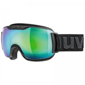 GOGLE UVEX  DOWNHILL 2000 S FM 2018 BLACK MAT|MIRROR GREEN CLEAR S3