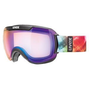 GOGLE UVEX  DOWNHILL 2000 VFM 2017 BLACK MAT|MIRROR BLUE VARIOMATIC CLEAR S1-3