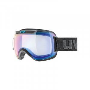 GOGLE UVEX  DOWNHILL 2000 VFM  2019 BLACK MAT|VARIOMATIC MIRROR BLUE CLEAR S1-3