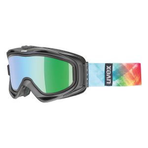 GOGLE UVEX  G.GL 300 TO 2017 BLACK MAT|SMOKE BLUE S3|MIRROR GREEN S4