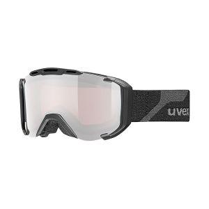 GOGLE UVEX  SNOWSTRIKE PM  2017 BLACK MAT|LITEMIRROR SILVER POLAVISION|LASERGOLD LITE S3