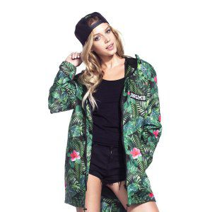 KURTKA JUNGMOB JUNGLE MESS RAIN JACKET 2017 ZIELONY