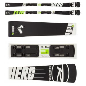 NARTY ROSSIGNOL HERO MASTER R21 WC 2016 + WIĄZANIA AXIAL3 150 ROCKER FLEX BLACK