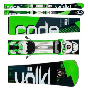 NARTY VOLKL CODE SPEEDWALL L UVO 2017 + WIĄZANIA RMOTION 2 12.0 D CODE GREEN