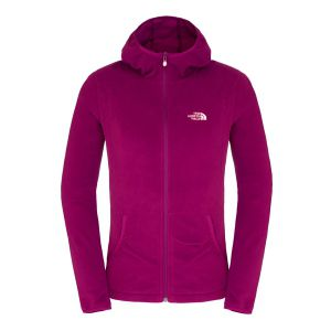 POLAR THE NORTH FACE  WOMEN'S 100 L/S MASONIC HOODIE 2015 FIOLETOWY