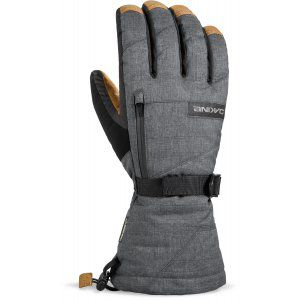RĘKAWICE DAKINE  LEATHER TITAN GLOVE CARBON  2018 SZARY
