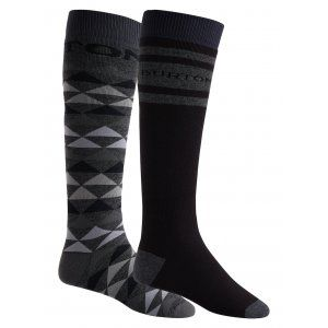 SKARPETY SNOWBOARDOWE BURTON  MEN'S WEEKEND SOCK TWO-PACK  2018 CZARNY