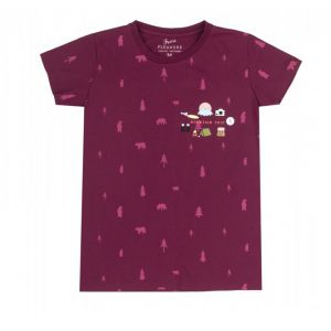 T-SHIRT FEMI PLEASURE  KAMP BURGUNDY  2017 BORDOWY
