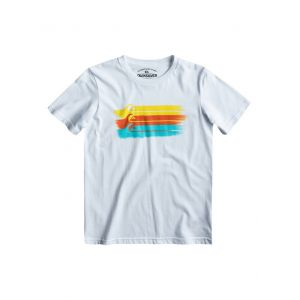 T-SHIRT QUIKSILVER BASIC MSP YOUTH 2014 BIAŁY