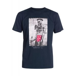 T-SHIRT QUIKSILVER  CLASSIC TEE THE OLD BOARDIES  2015 GRANATOWY