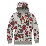 BLUZA BURTON FEARNOW PULLOVER GREY HEATHER WILD FLOWERS 3