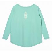 Bluza Femi Love miętowa tył