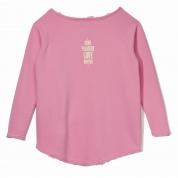 Bluza Femi Pleasure Love różowa tył