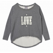 Bluza Femi Pleasure Love szara