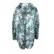 BLUZA FEMI PLEASURE PAGAN BLUE LEAF TYŁ