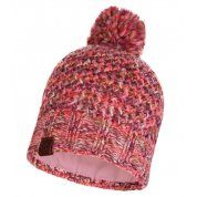 CZAPKA BUFF KNITTED AND FLEECE HAT MARGO FLAMINGO PINK