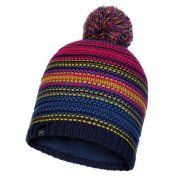 CZAPKA BUFF KNITTED AND FLEECE HAT NEPER NIGHT BLUE