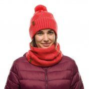 CZAPKA BUFF KNITTED AND FLEECE HAT RAISA BLOSSOM RED NA MODELCE