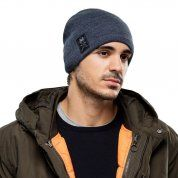 CZAPKA BUFF KNITTED AND FLEECE HAT SOLID NAVY NA MODELU