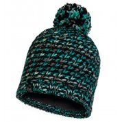 CZAPKA BUFF KNITTED AND FLEECE HAT VALYA TURQUOISE