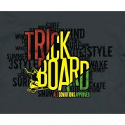 TRICKBOARD WHITE SKULL grafika
