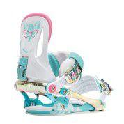Wiązania snowboardowe Rome Strut biały|błękitny