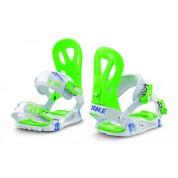 Wiązania snowboardowe Drake King biały|niebieski|zielony