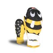 Rękawice Level Animal czarno|żółto|białe