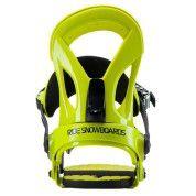 Wiązania snowboardowe Ride EX żółte widok z tyłu
