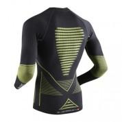 Koszulka X-Bionic Evo czarno|zielona tył