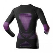 Koszulka damska z długim rękawem  X-Bionic Evo czarno|fioletowa tył