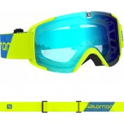 GOGLE SALOMON XVIEW NEON YELLOW|MID BLUE L408445