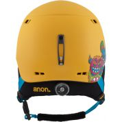 KASK ANON BURNE WILD THING YELLOW TYŁ