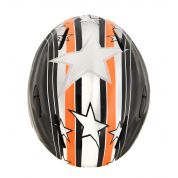 KASK BLIZZARD MAGNUM ORANGE STAR SHINY.