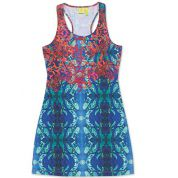 SUKIENKA DAKINE NANI MINI DRESS CORAL REEF COMMUNITY